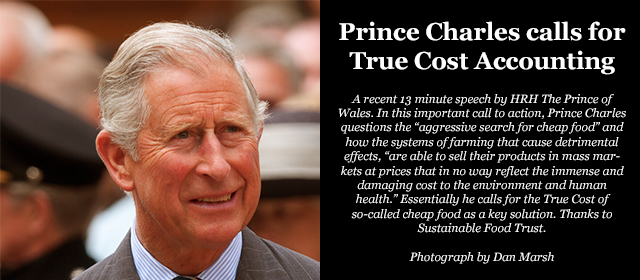 Prince Charles calls for True Cost Accounting